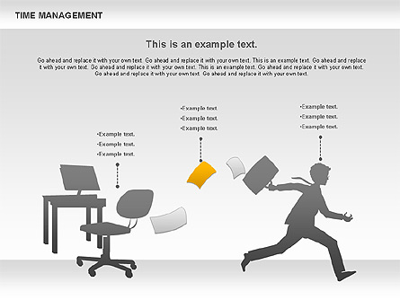 Work-time Management Diagram for Presentations in PowerPoint