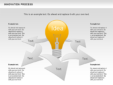 innovation process with lamp diagram for presentations in powerpoint