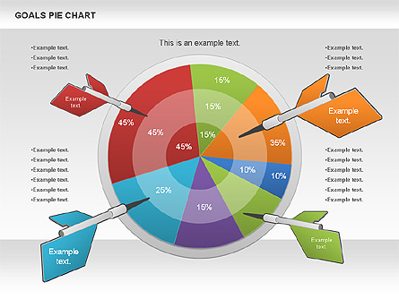 goals pie chart for presentations in powerpoint and keynote ppt star