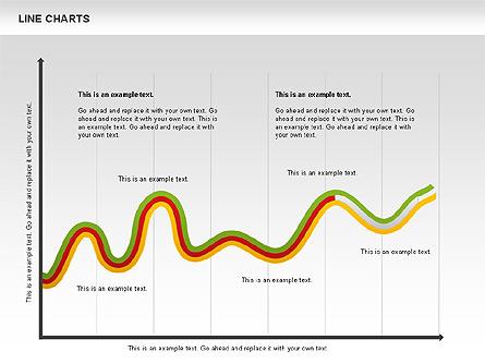 Curve Chart Presentation Template, Master Slide