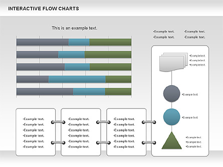 Interactive Flow Chart (data-driven) Presentation Template, Master Slide