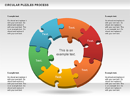 Donut puzzle chart for presentations in powerpoint and keynote ppt donut puzzle chart ccuart Choice Image