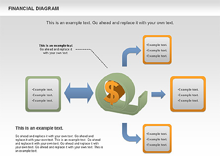 Financial Management Diagram Presentation Template, Master Slide