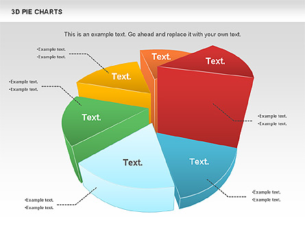 3d pie chart for presentations in powerpoint and keynote | ppt star, Powerpoint templates