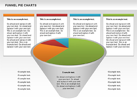 funnel pie chart for presentations in powerpoint and keynote ppt star