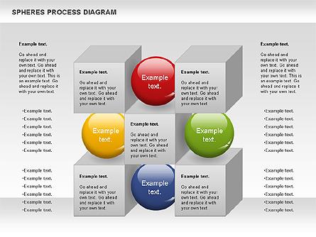Cubes and Spheres Diagram Presentation Template, Master Slide