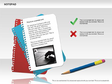 Notepad Diagram Presentation Template, Master Slide