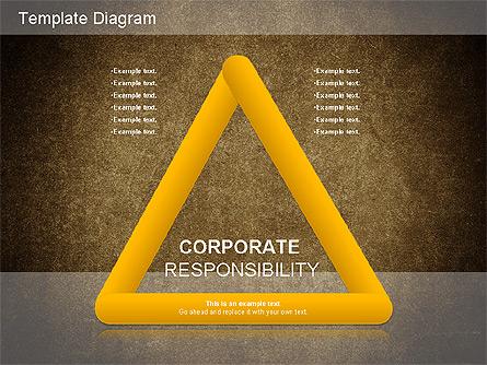 Corporate Responsibility Diagram Presentation Template, Master Slide