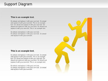 Support Diagram Presentation Template, Master Slide