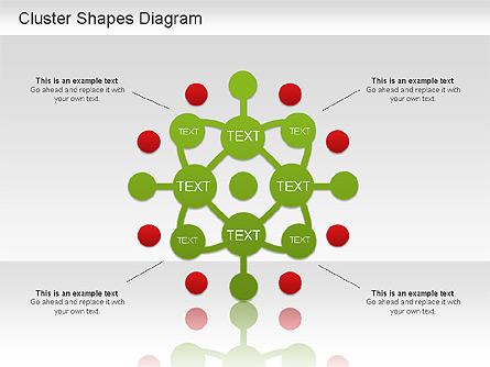 Cluster Shapes Diagram Presentation Template, Master Slide
