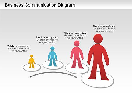 Business Communication Diagram Presentation Template, Master Slide