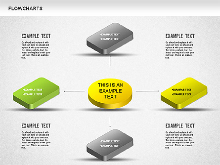 3D Flowchart Presentation Template, Master Slide
