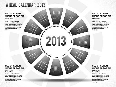 2013 powerpoint wheel calendar for presentations in powerpoint and 2013 powerpoint wheel calendar presentation template master slide toneelgroepblik Images