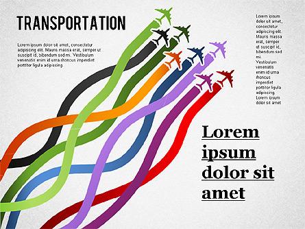 Airfares Diagram Presentation Template, Master Slide