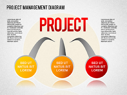 project management diagram for presentations in powerpoint and