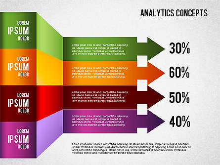 Analytics Concepts Charts Presentation Template, Master Slide