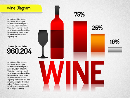 Wine Diagram Presentation Template, Master Slide