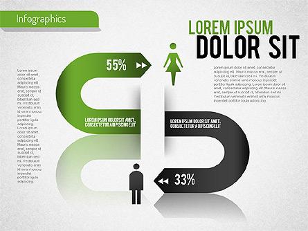 Gender Infographic Presentation Template, Master Slide