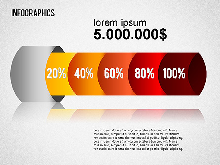 Infographic Chart Collection Presentation Template, Master Slide