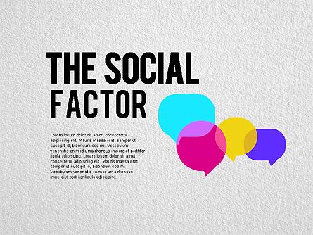 The Social Factor Infographic Presentation Template, Master Slide