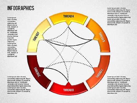 Set of Infographic Diagrams Presentation Template, Master Slide