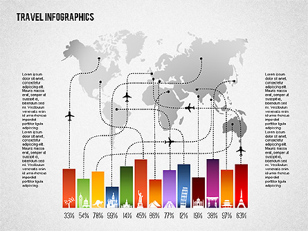 Travel Infographics Presentation Template, Master Slide