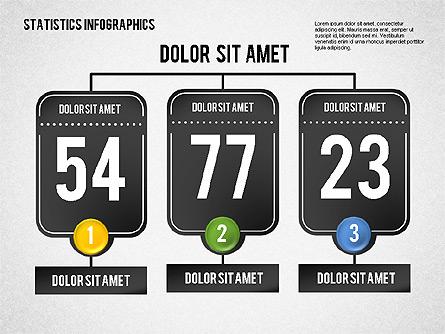 Road Statistics Infographics Presentation Template, Master Slide