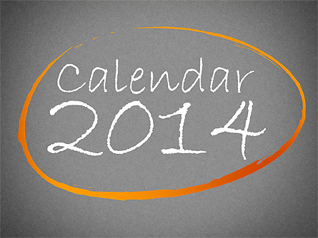 2014 Calendar Presentation Template, Master Slide