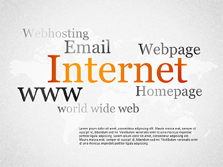 Internet Infographics Presentation Template, Master Slide
