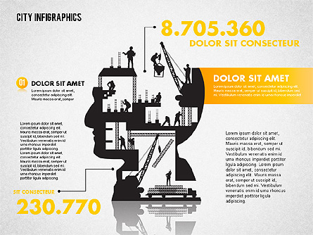 Construction Infographics Presentation Template, Master Slide