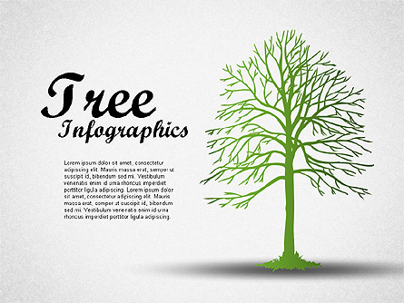 Green Tree Infographics Presentation Template, Master Slide