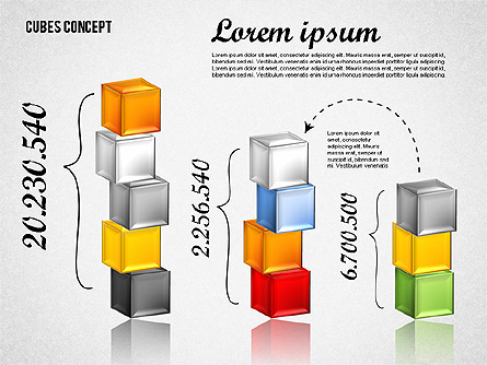 Cubes Concept Diagram Presentation Template, Master Slide