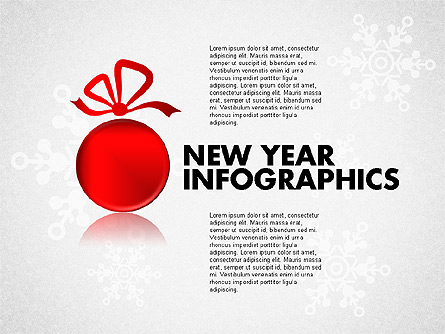 Christmas Decoration Pie Chart Presentation Template, Master Slide