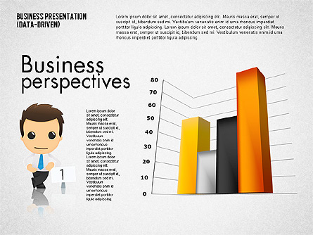 Bar Graphs with Character (data driven) Presentation Template, Master Slide