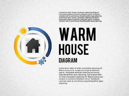 Warm Home Technology Diagram Presentation Template, Master Slide