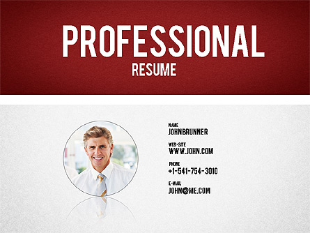Professional Resume Template For Presentations In Powerpoint And