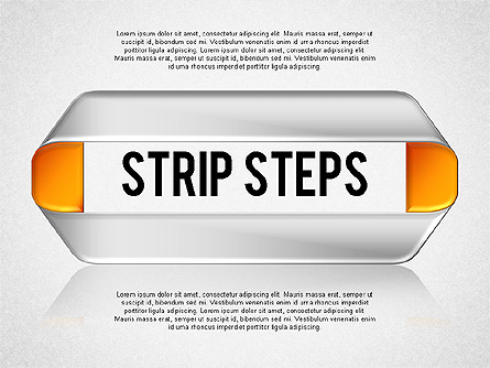 Mobius Strip Steps Presentation Template, Master Slide