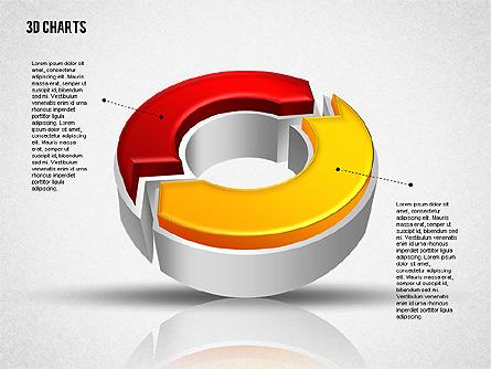3D Diagrams Collection Presentation Template, Master Slide