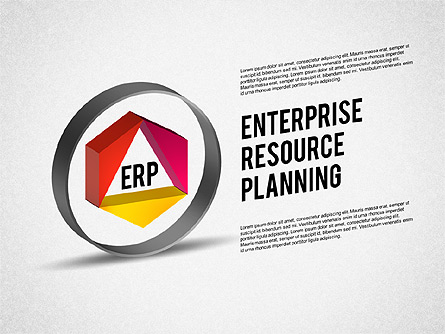 ERP Diagram Presentation Template, Master Slide