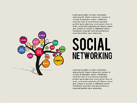 Social Networking Tree for Presentations in PowerPoint and Keynote