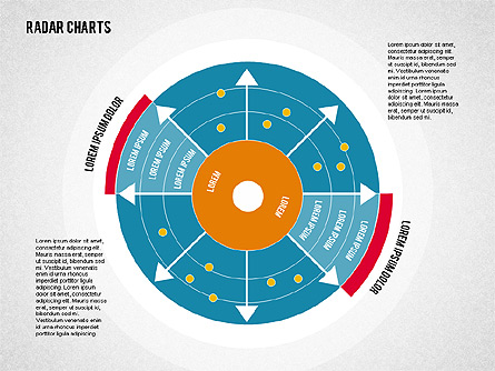radar chart in flat style for presentations in powerpoint and