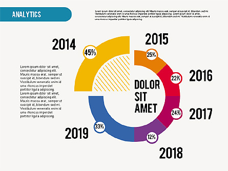 Analytic Infographics Presentation Presentation Template, Master Slide