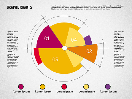Pie Chart Collection in Flat Design Presentation Template, Master Slide