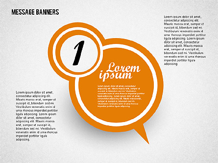 colored speech bubbles for presentations in powerpoint and keynote, Powerpoint templates
