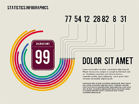 Infographics Kit Presentation Template, Master Slide