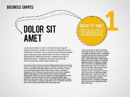 Four Steps Concept Presentation Template, Master Slide