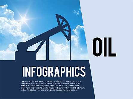 Mining and Oil Production Infographics Presentation Template, Master Slide