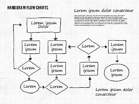 Hand Drawn Flow Charts Presentation Template, Master Slide