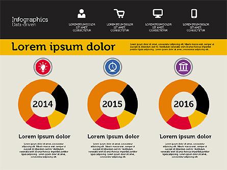 Presentation with Inforgraphics in Flat Design Presentation Template, Master Slide