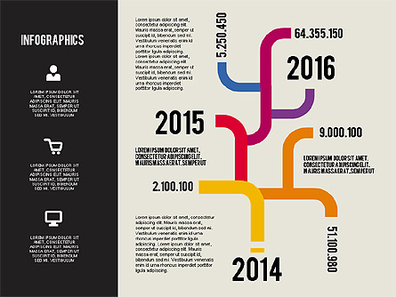 Infographics Charts Set Presentation Template, Master Slide